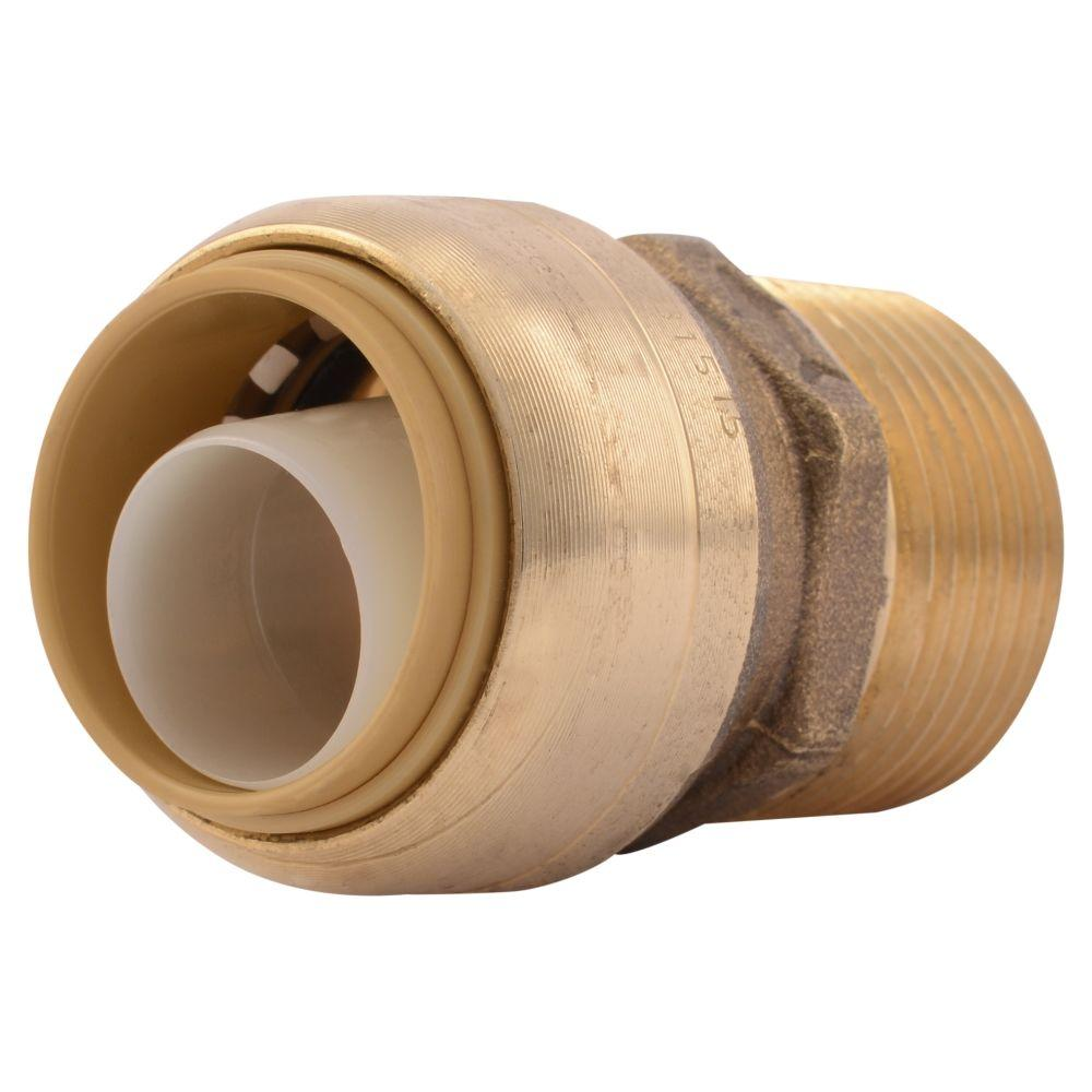 SharkBite 3/4 in. Push-to-Connect x MIP Brass Adapter Fitting