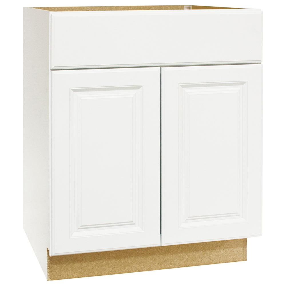 Hampton Bay Hampton Assembled 30 X 34 5 X 21 In Base Bath Vanity Cabinet In Satin White Kvsb30