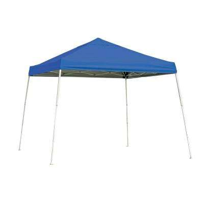 Sports Series 10 ft. x 10 ft. Blue Slant Leg Pop-Up Canopy