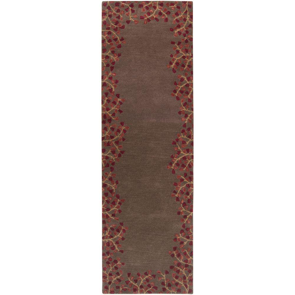 Artistic Weavers Canaan Burgundy 3 Ft X 8 Ft Indoor