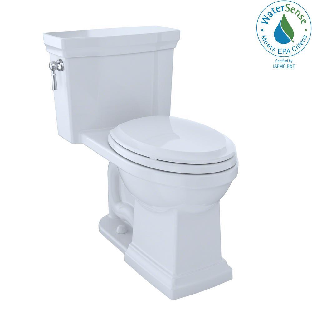 TOTO Promenade II 1-piece 1.28 GPF Single Flush Elongated Toilet ...