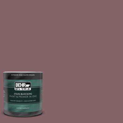 1 qt. #130F-6 Brazil Nut Semi-Gloss Enamel Exterior Paint and Primer in One