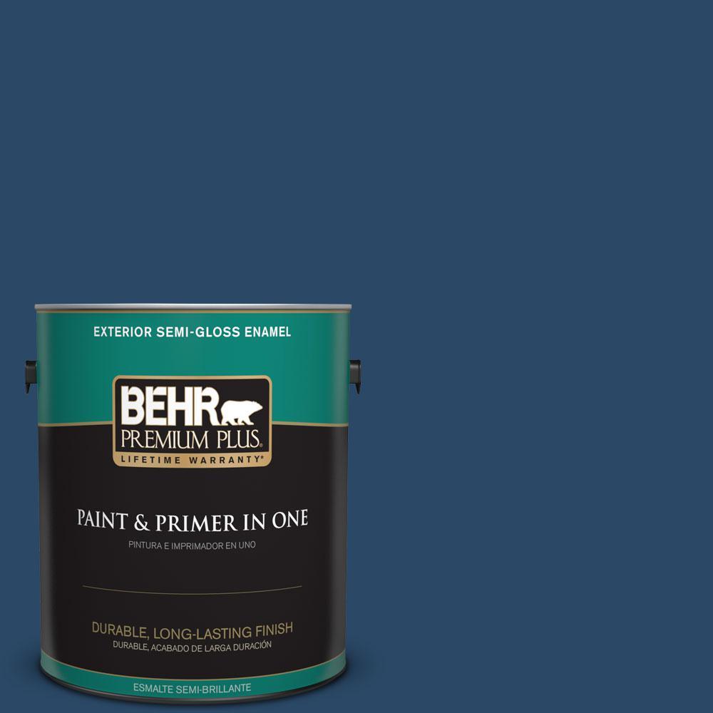 1-gal. #580D-7 Deep Royal Semi-Gloss Enamel Exterior Paint