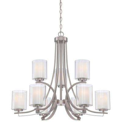 Parsons Studio 9-Light Brushed Nickel Chandelier