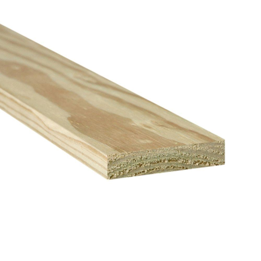 Weathershield 1 In X 4 In X 4 Ft Appearance Grade Pressure Treated Board 275086 The Home Depot