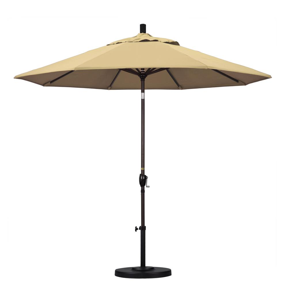 9 ft. Aluminum Push Tilt Patio Umbrella in Beige Pacifica