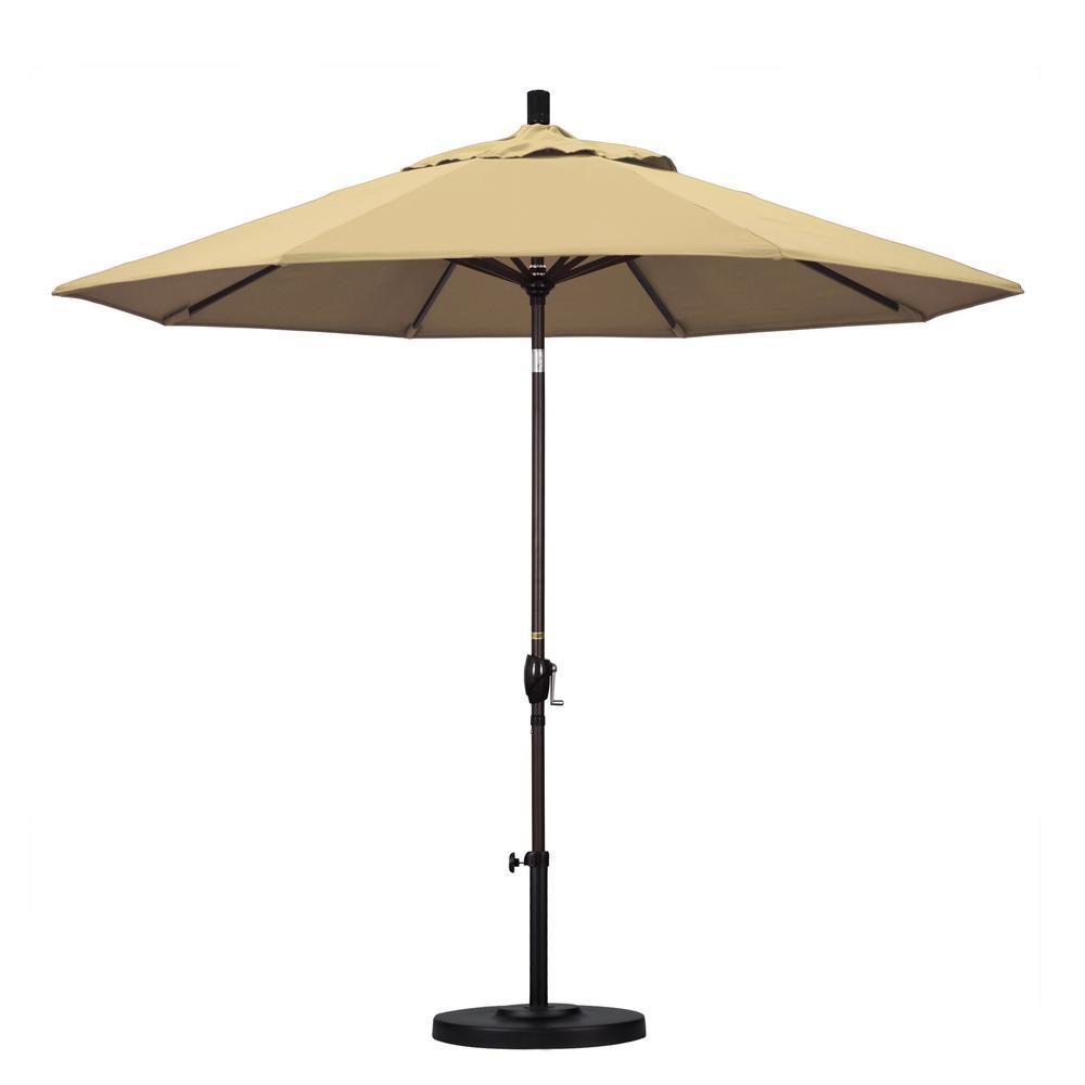 9 ft. Aluminum Push Tilt Patio Umbrella in Beige Pacifica