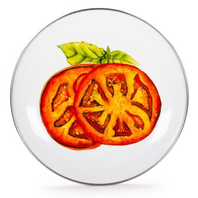 Tomatoes 8 in. Enamelware Round Sandwich Plate