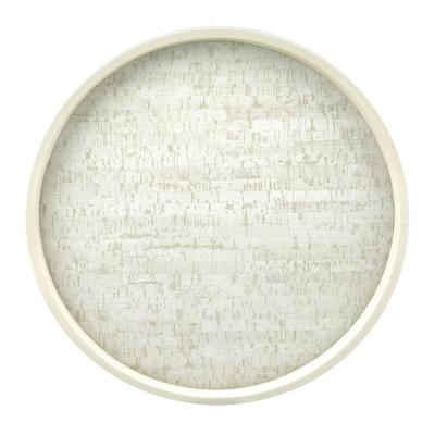Stucco Cork 14 in. Serving Tray
