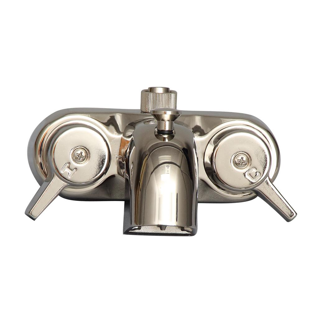 Barclay Products 2 Handle Claw Foot Tub Faucet In Polished Nickel