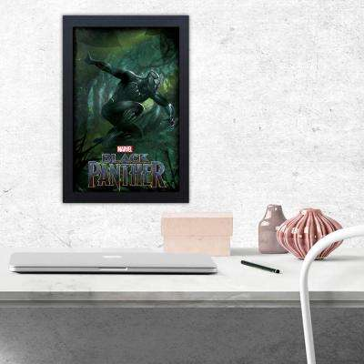 Black Panther Jump - 11x17 Framed Gel-Coat