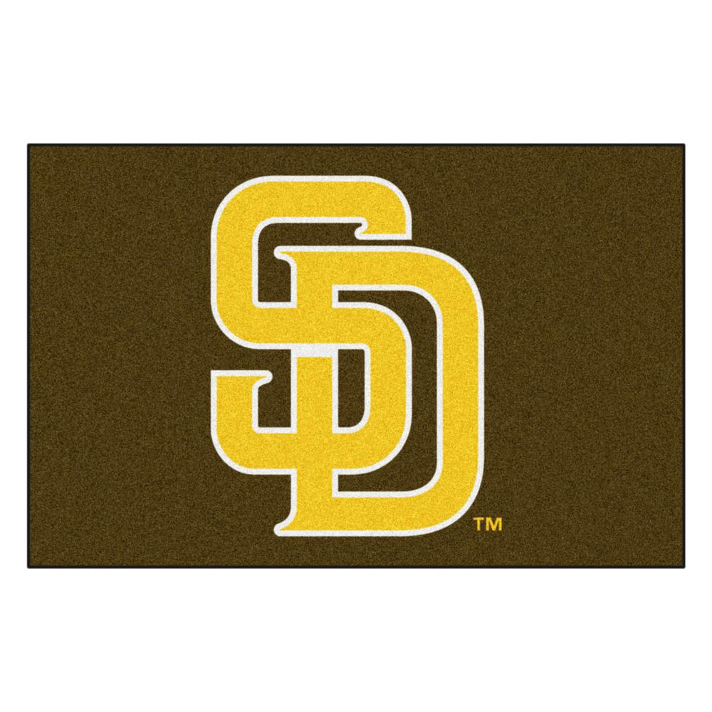 85dfe7311 FANMATS MLB - San Diego Padres 19 in. x 30 in. Starter Mat Area Rug ...