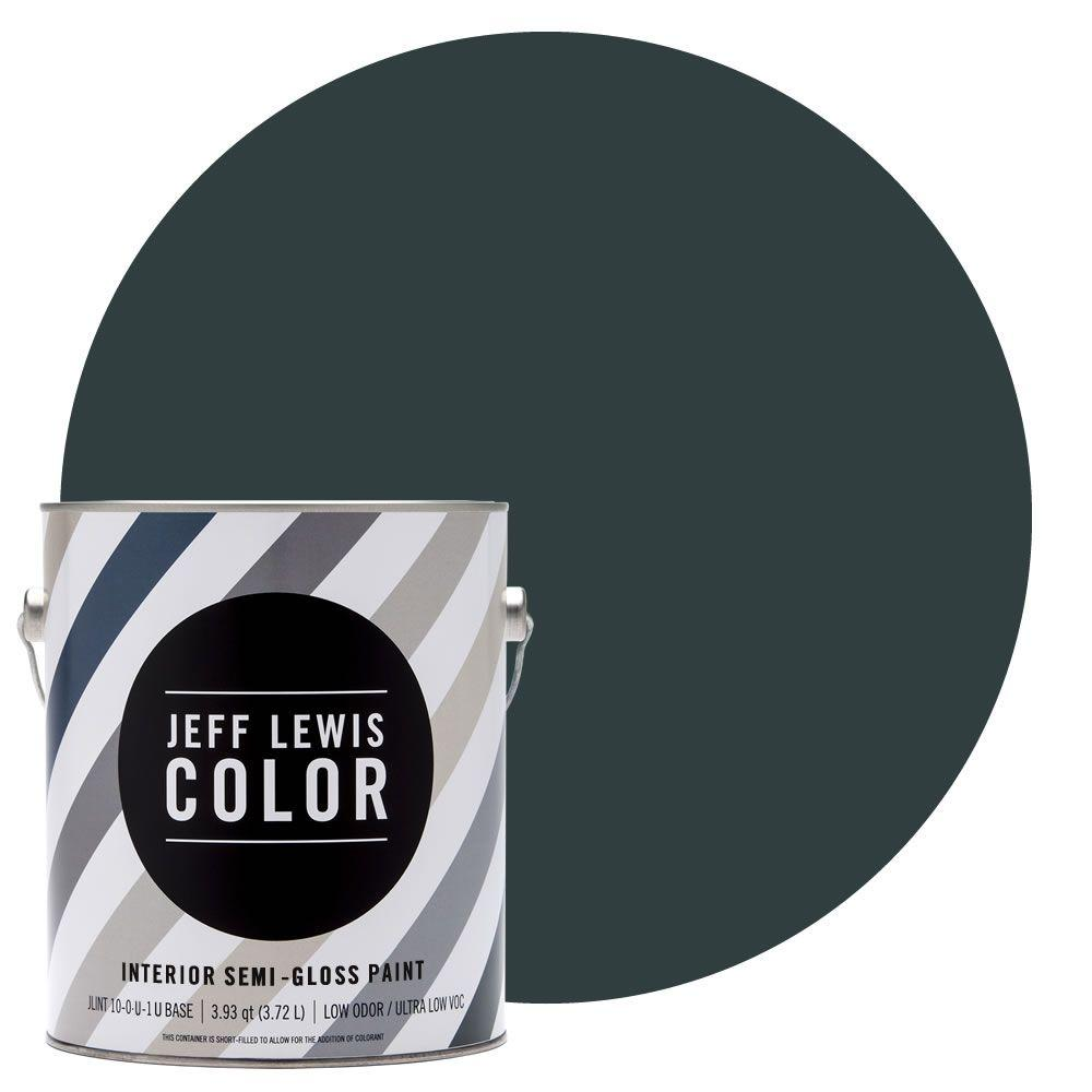 Jeff Lewis Color 1-gal. #JLC314 Atlantic Semi-Gloss Ultra-Low VOC Interior Paint