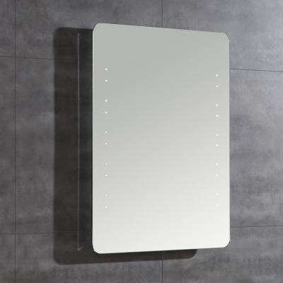 Romer 31 in. L x 24 in. W Single Wall LED Mirror in Chrome
