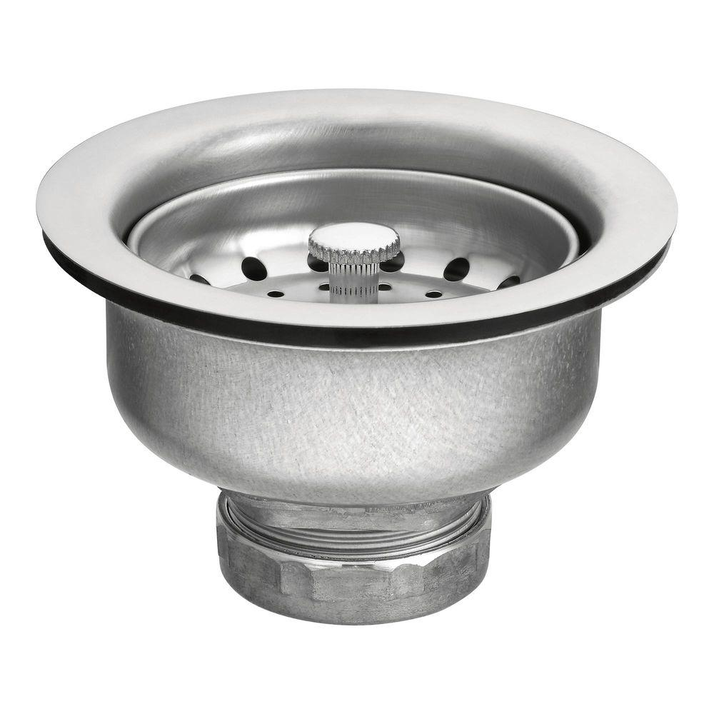 bathroom sink strainer replace moen basket strainer in stainless steel 22037 the home depot 16582