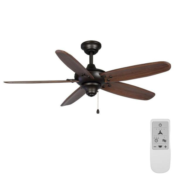 Altura 48 in. Bronze Wi-Fi Enabled Smart Ceiling Fan with Remote - Works with Google Assistant and Alexa