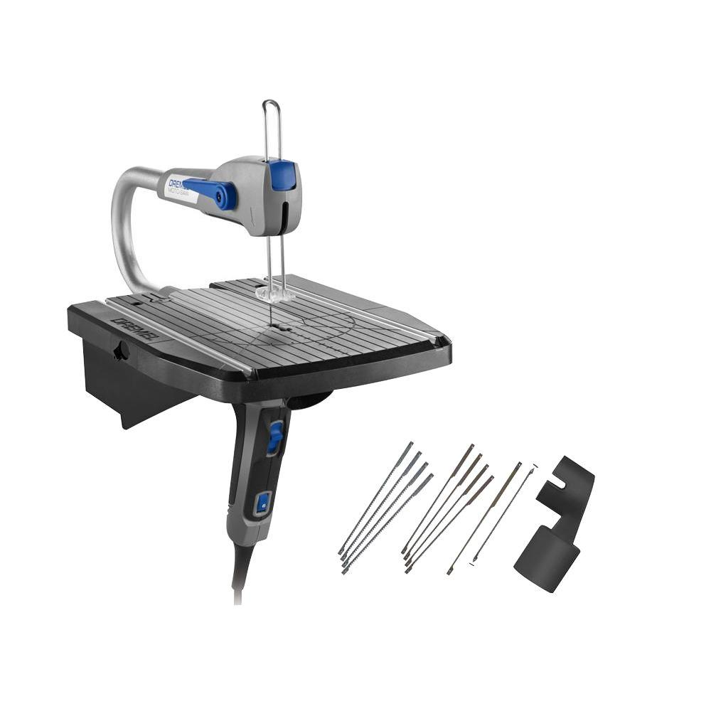 Moto-Saw 0.6 Amp Corded Scroll Saw for Plastic, Laminates, and Metal
