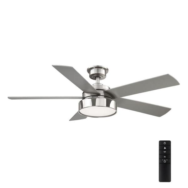 Cherwell52 in. LED Brushed Nickel Ceiling Fan with Light