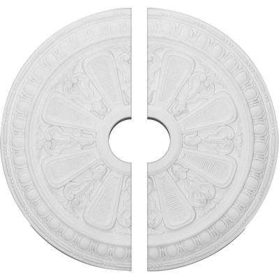 23-1/2 in. O.D. x 3-7/8 in. I.D. x 1 in. P Bristol Ceiling Medallion (2-Piece)