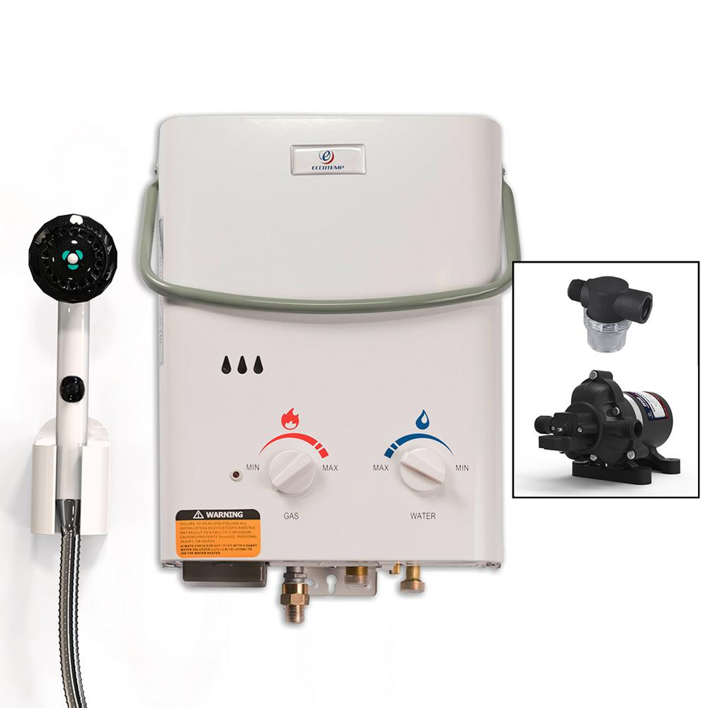 Eccotemp L5 Portable Tankless Water Heater with EccoFlo P...