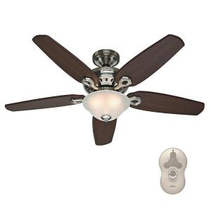 brushed nickel hunter ceiling fans with lights 53033 64_300 hunter contempo 52 in indoor brushed nickel ceiling fan with