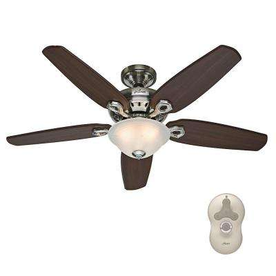 Fairhaven 52 in. Indoor Brushed Nickel Ceiling Fan with Light Kit