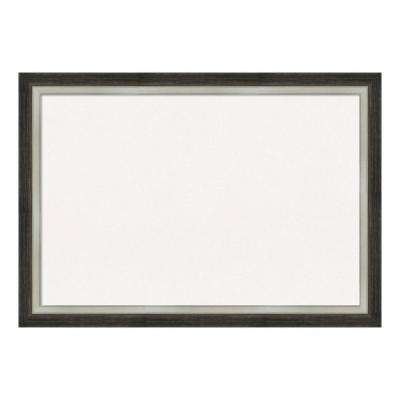 Brushed Metallic Wood Framed White Cork Memo Board
