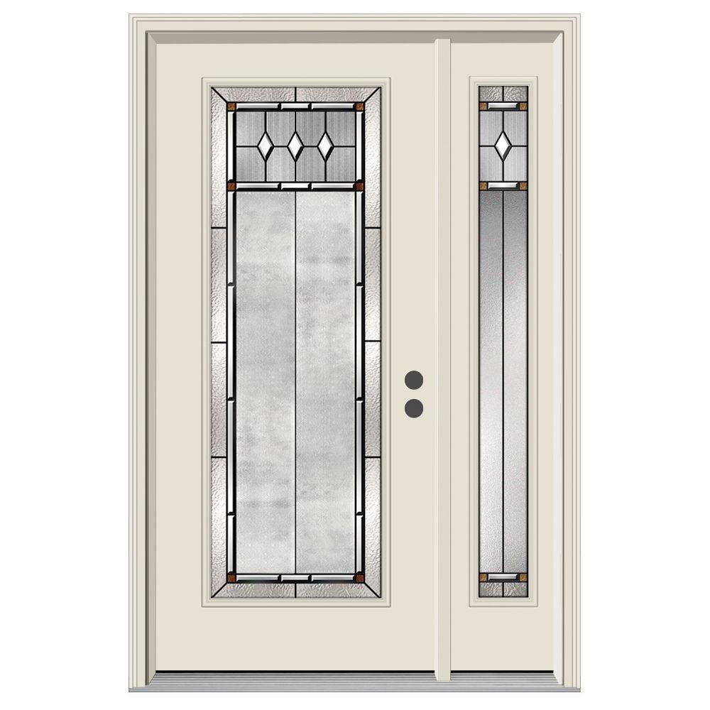 52 in. x 80 in. Full Lite Mission Prairie Primed Steel Prehung Left-  sc 1 st  Home Depot & Yes - Left-Hand/Inswing - 52 x 80 - Exterior Doors - Doors u0026 Windows ...