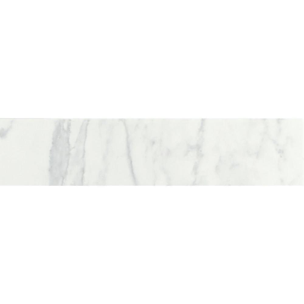 Daltile Marissa Carrara 3 in. x 12 in. Ceramic Bullnose Floor and Wall Tile