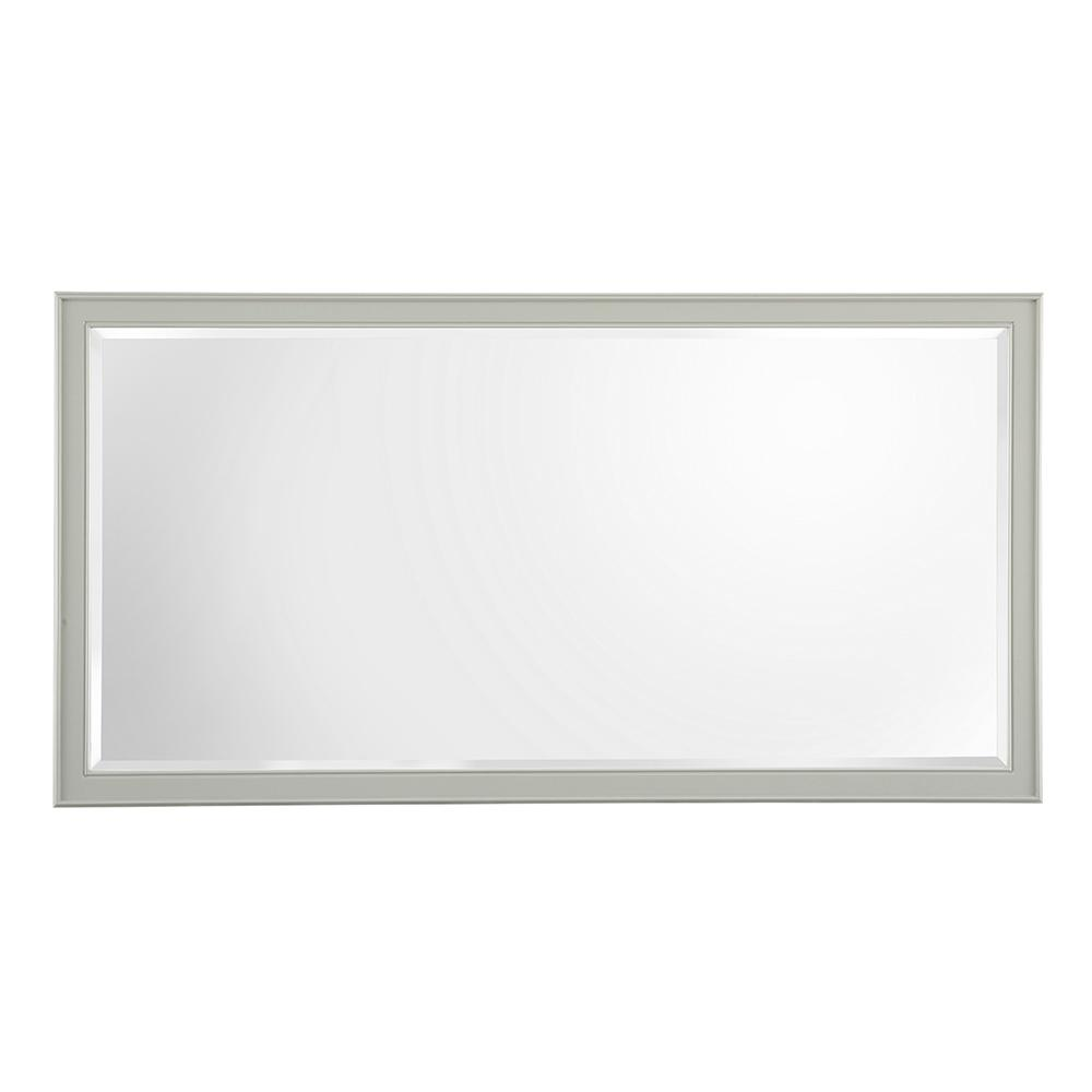 Home Decorators Collection Gazette 60 in. W x 31 in. H Single Framed Wall Mirror in Grey