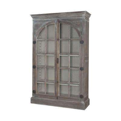 Manor Mahogany Waterfront Gray China Cabinet
