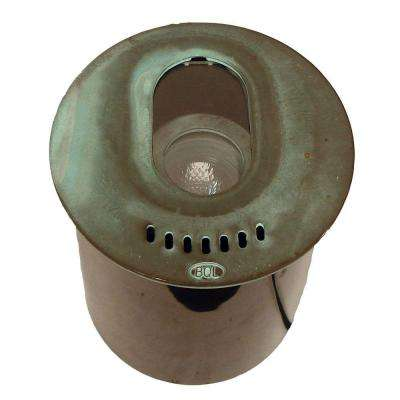1-Light Verde Green Die Cast Brass Well Light