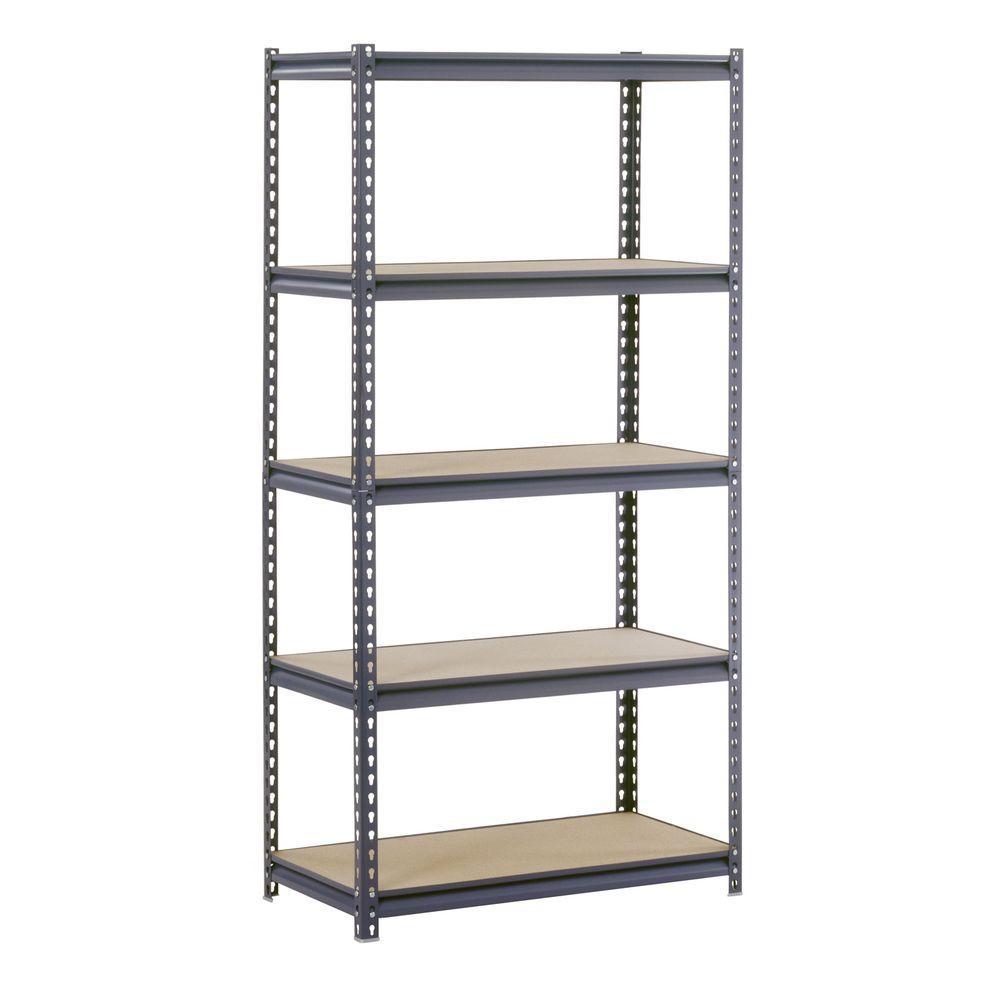 2 PCS 5-Tier Garage Storage Rack Adjustable Shelf 72 inch Heavy Duty