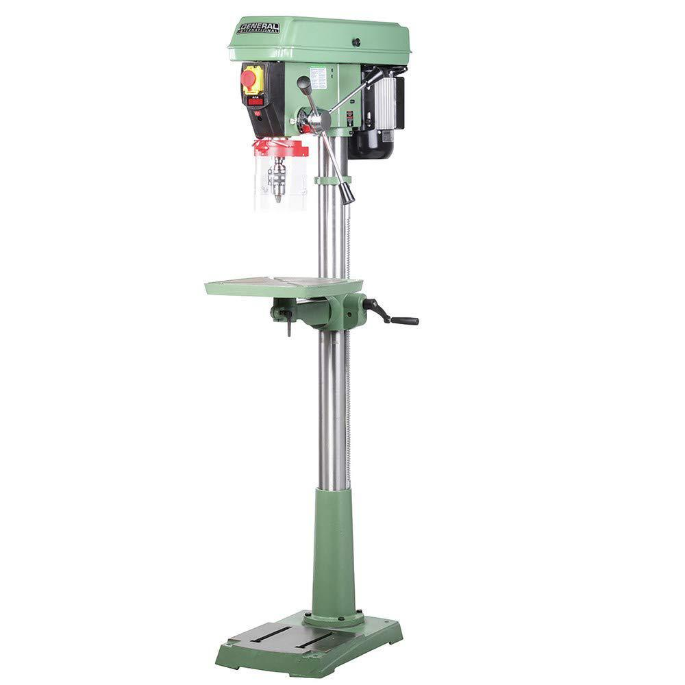 Drill Press Guard >> General International 17 In 3 4 Hp Electronic Variable Speed Drill Press With Flip Up Guard And Integrated Laser Pointer