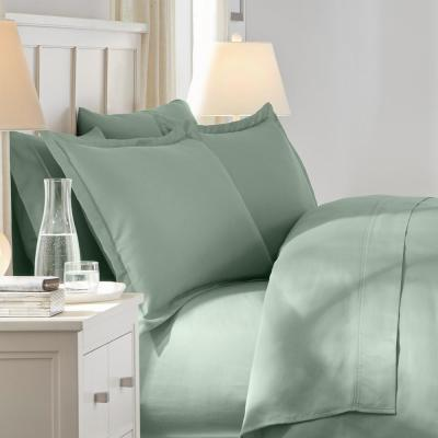 300 Thread Count Wrinkle Resistant American Cotton Sateen Duvet Cover Set