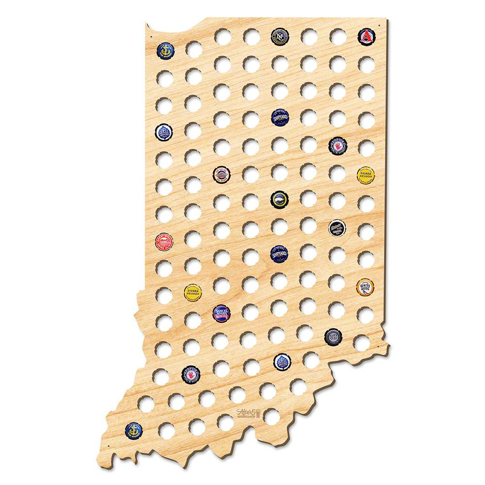 After Workshop In X In Giant XL Indiana Beer Cap Map - Indiana beer cap map