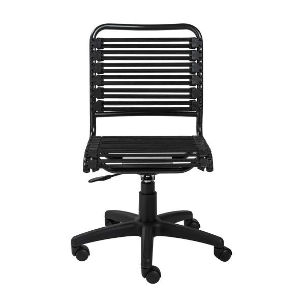 Black Flat Low Back Office Chair