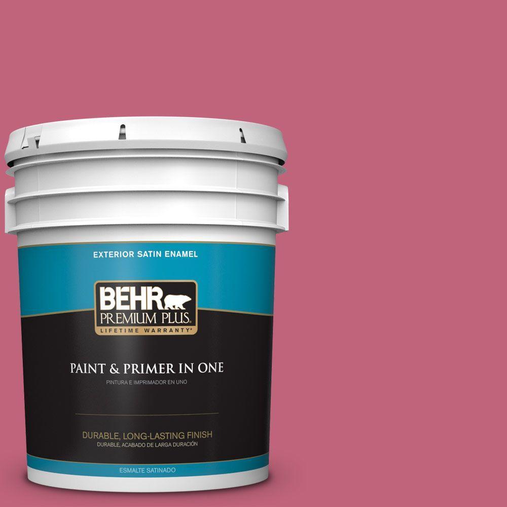 BEHR Premium Plus 5-gal. #120D-4 Mulberry Satin Enamel Exterior Paint