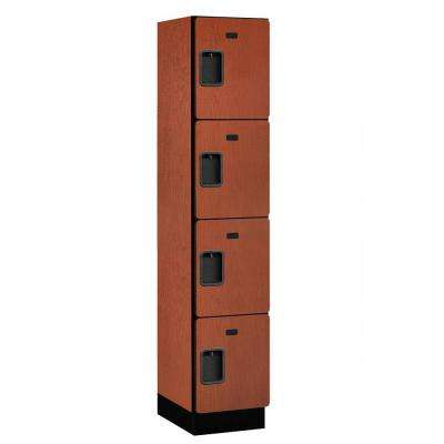 24000 Series 4-Tier 18 in. D Extra Wide Designer Particle Board Locker in Cherry