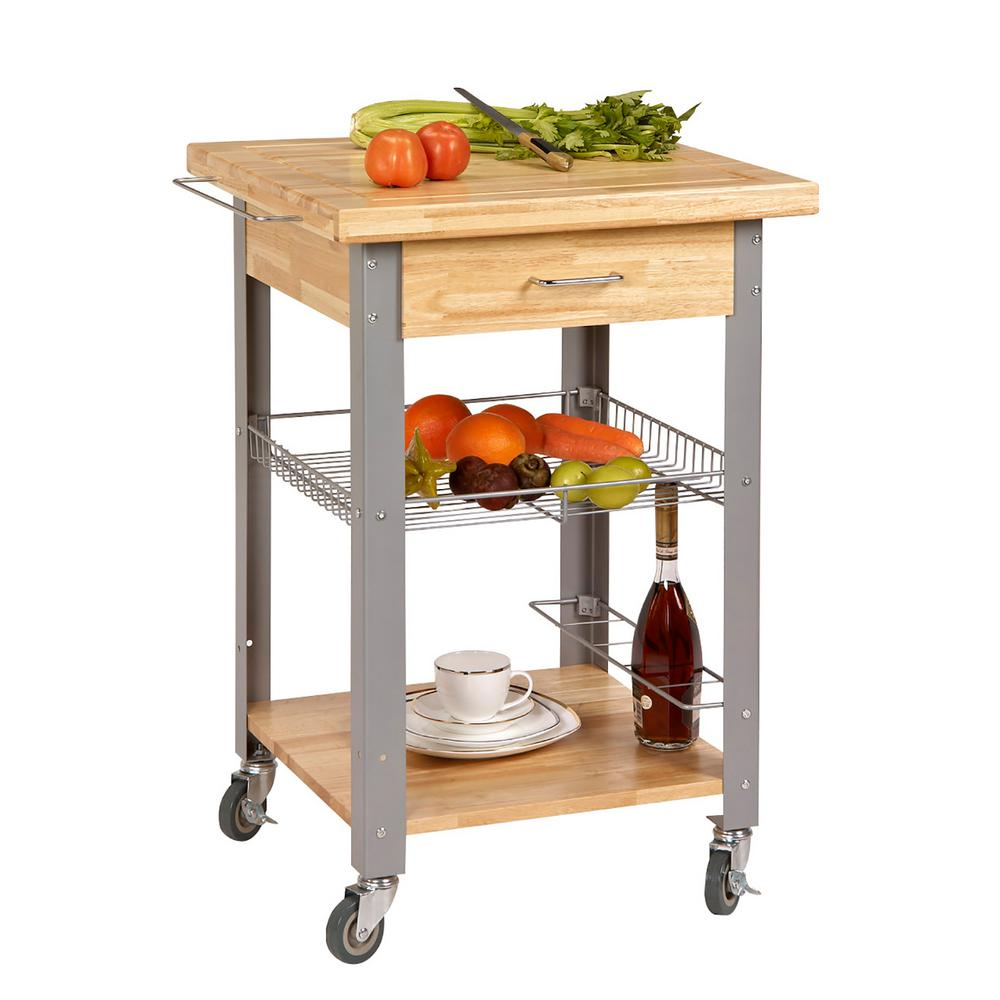 Null Corner Housewares Bamboo Kitchen Cart