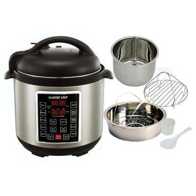 8 Qt. Electric Pressure Cooker with 12-Presets
