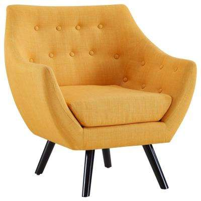 Genial Mustard Allegory Arm Chair