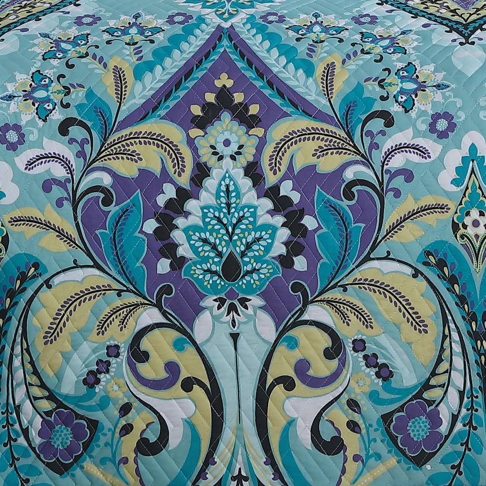 Avondale Manor Misha 5-Piece Mint Queen Quilt Set