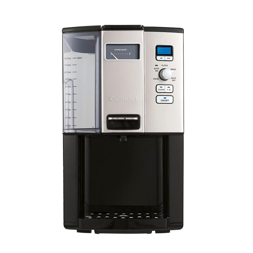Automatic Coffee Drip Maker Grinder Machine Cuisinart Programmable 12-Cup