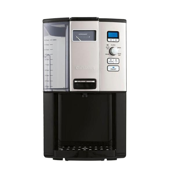 Cuisinart 12 Cup Black Chrome Drip Coffee Maker With Programmable Settings Dcc 3000 The Home Depot