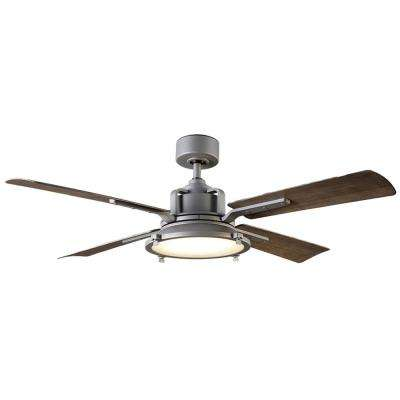 Nautilus 56 in. LED Indoor/Outdoor Graphite 4-Blade Smart Ceiling Fan with 3000K Light Kit and Wall Control
