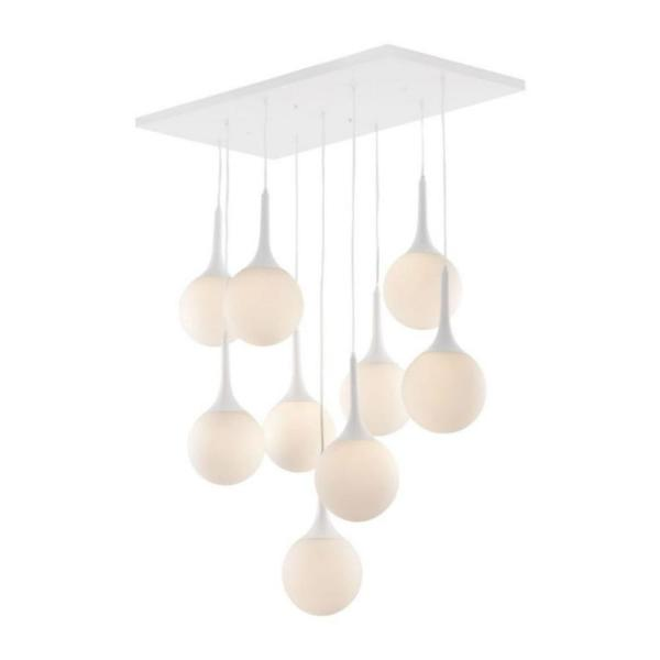 Epsilon 9-Light White Ceiling Pendant