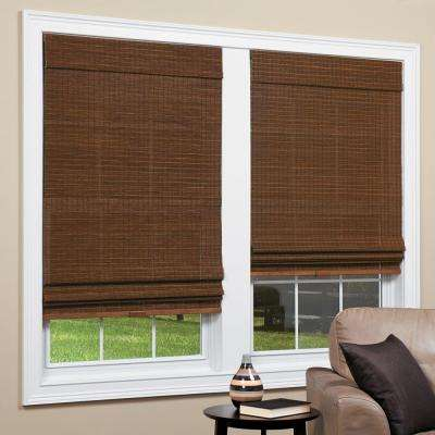 Natural Panama Cordless Bamboo Roman Shades, 64 in. Length (Price Varies by Size)