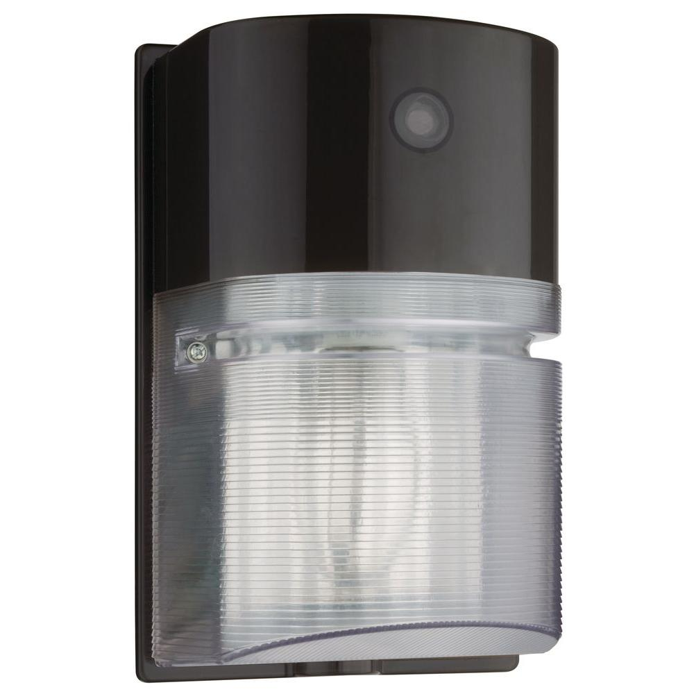 Lithonia Lighting Bronze Metal-Halide Outdoor Wall-Mount Wall Pack Light