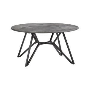 Ember 36 in. Gray Paladina and Black Metal Cocktail Table